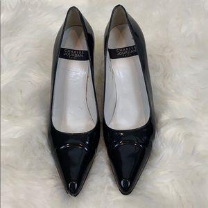 Charles Jourdan Black patent heels